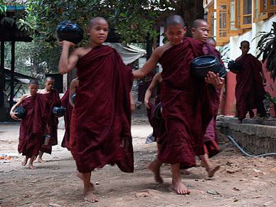 Myanmar - Yangon: Monastry close to Swal Daw Pagoda