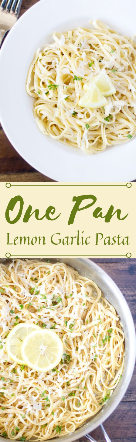 ONE PAN LEMON GARLIC PASTA #pasta #dinner #noodle #lemon #easy