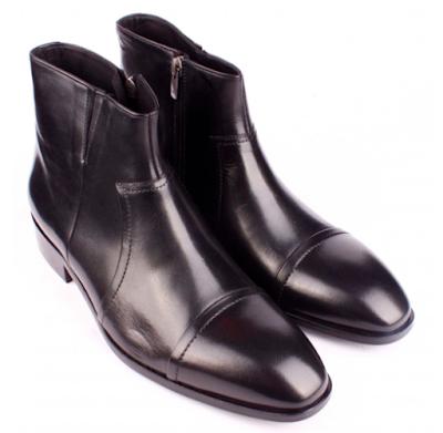 Bruno Shoes 2388KE Klasik Erkek Kösele Enjeksiyon Taban Kürklü Bottur