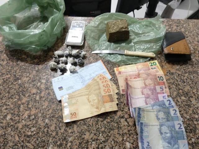 Flagrante na zona rural resulta em prisão por tráfico e apreensão de droga