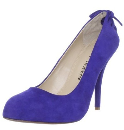 20e24c0b0 Check out my save and splurge picks for bright blue suede pumps below  Left   Save on the Sam Edelman