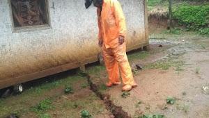 35 Rumah terdampak pergeseran tanah Di kabupaten sukabumi sebagian banyak rusak