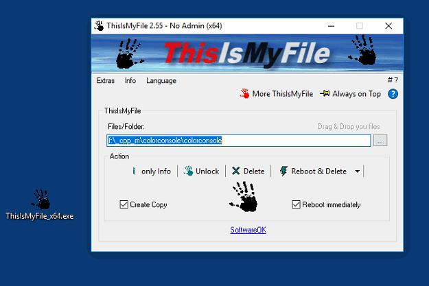 Thisismyfile - Ένα ισχυρό πρόγραμμα για διαγραφή προστατευμένων αρχείων