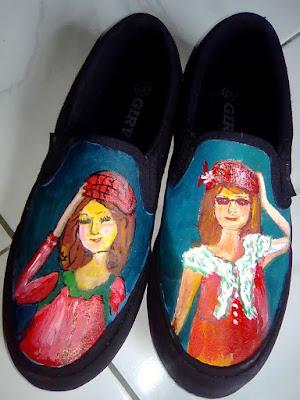 Sepatu Lukis Barbie, Sepatu Lukis, Sepatu Lukis Cantik
