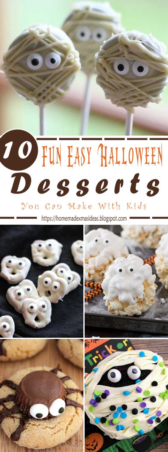 10 Fun Easy Halloween Desserts You Can Make With Kids