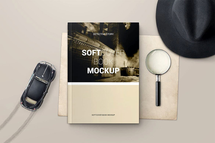 Free Download Soft Cover Book Mockup 3