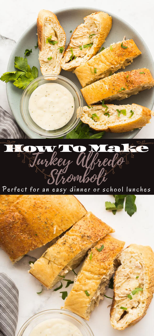 Turkey Alfredo Stromboli #healthyfood #dietketo #breakfast #food