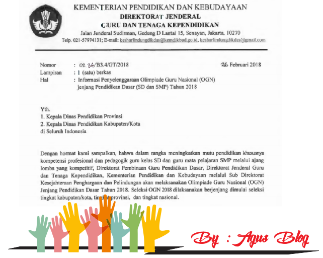 File Pendidikan DOWNLOAD INFO LENGKAP OLIMPIADE GURU NASIONAL (OGN)  SD SMP TAHUN 2018