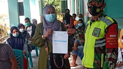 Didatangi Tim Mobile Vaksin Kodim 0315/Bintan, Ratusan Warga Ikuti Vaksinasi di Wilayah Koramil 02/Bintim  .