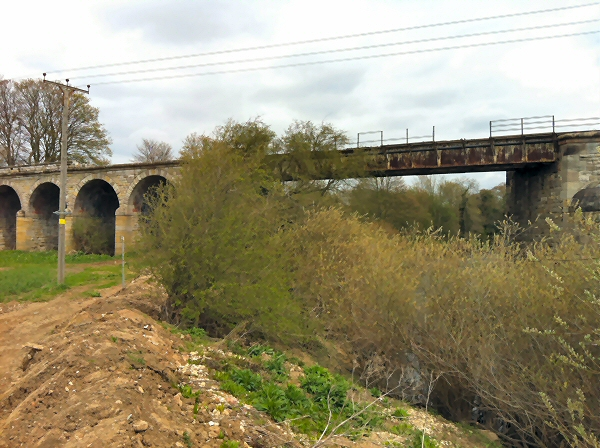 The northern half of Thorp Arch Viaduct