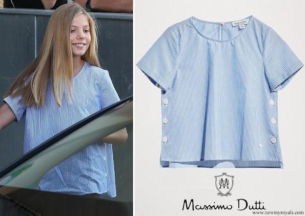 Infanta Sofia wore Massimo Dutti cotton short sleeve shirt