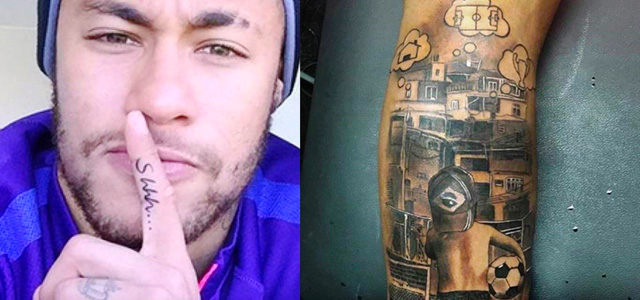 neymar tatuaje