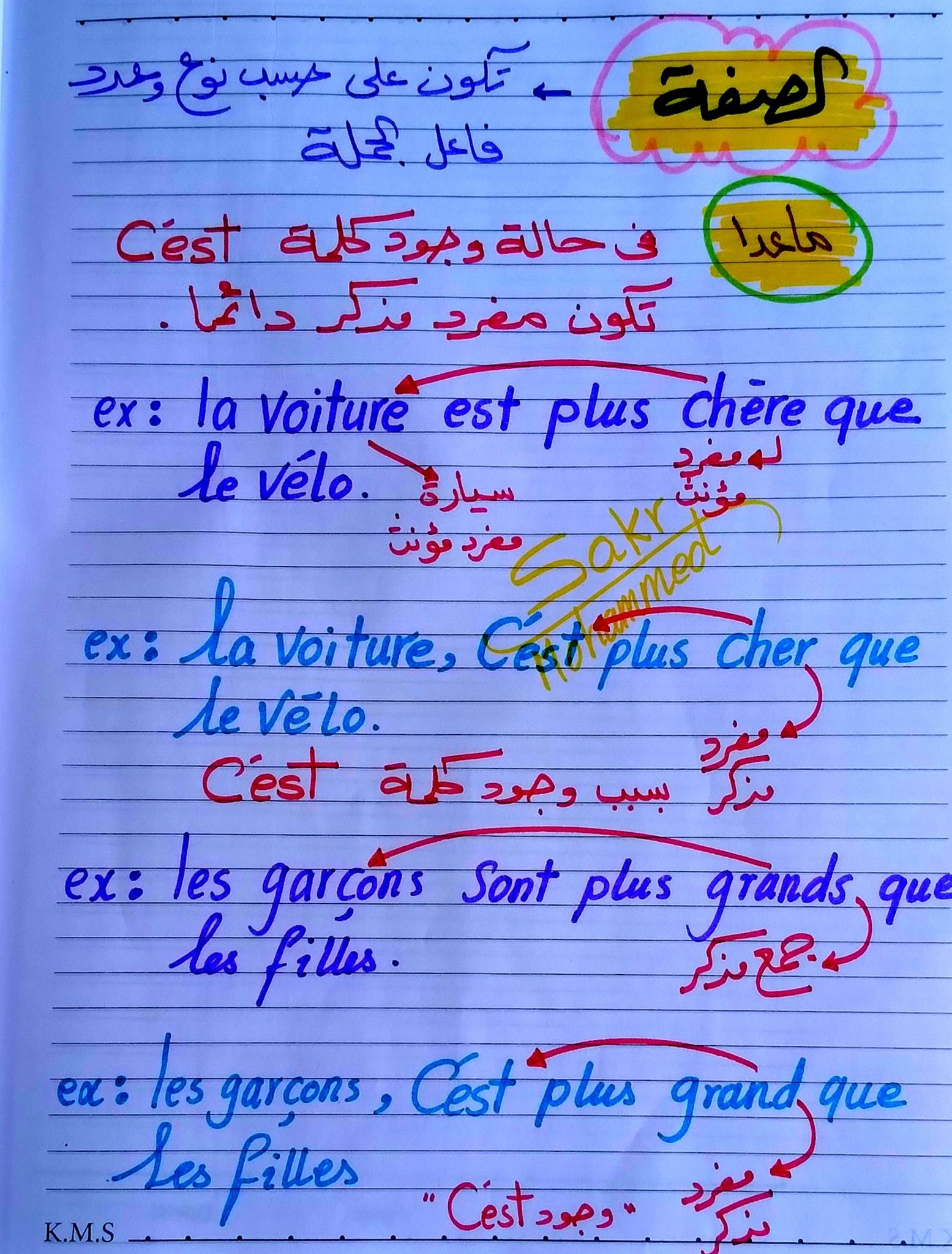 مراجعة لغة فرنسية للصف الثانى الثانوى ترم ثاني مسيو محمد رمضان 7