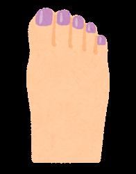 ペディキュアのイラスト(紫)