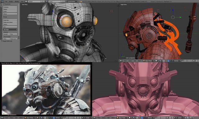 7 Software Pembuat Animasi 3D Terbaik Untuk Windows - Blender 3D