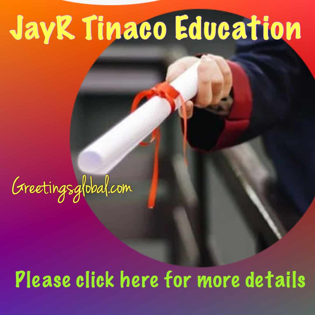 JayR Tinaco Education