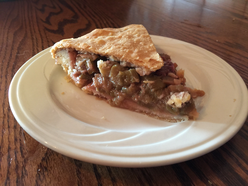 Strawberry rhubarb pie at Duarte's Tavern
