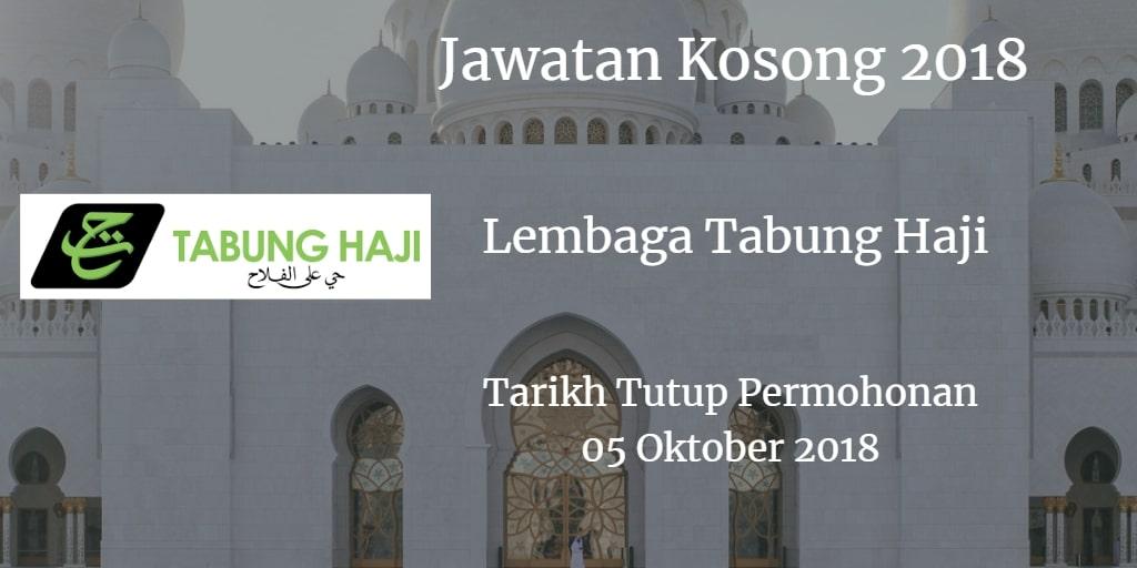 Jawatan Kosong Lembaga Tabung Haji 05 Oktober 2018