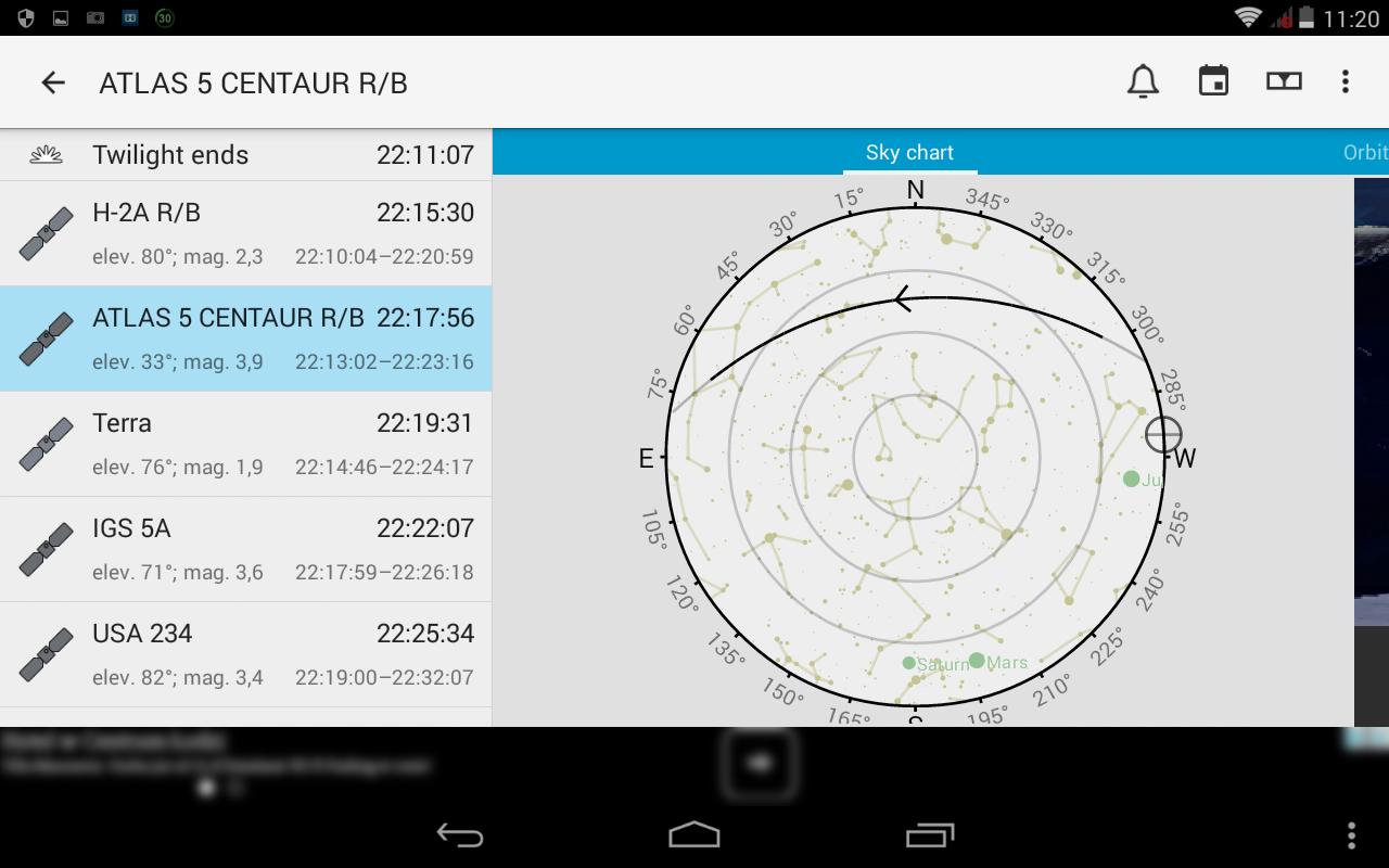 16. Okno programu po wyborze przelotu z aktywnym jasnym motywem aplikacji - widok ogólny trajektorii przelotu