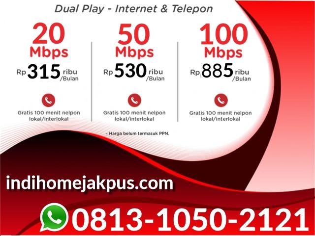 PAKET INTERNET DAN TELEPON INDIHOME JAKARTA PUSAT