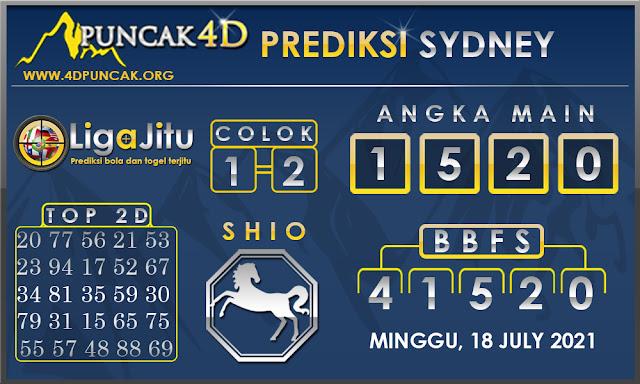 PREDIKSI TOGEL SYDNEY PUNCAK4D 18 JULY 2021