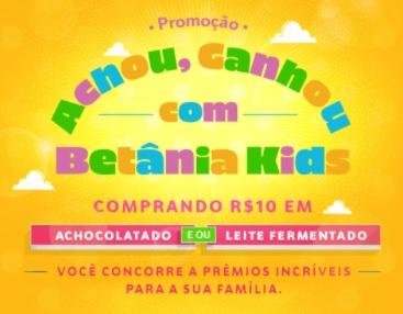 Cadastrar Promoção Betânia Kids 2020 Achou Ganhou na Hora Vale Presente Americanas 150 ou 250 Reais