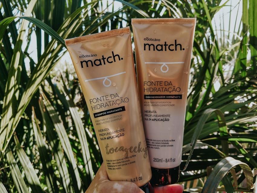 Shampoo e Condicionador Fonte da Hidratação, Match