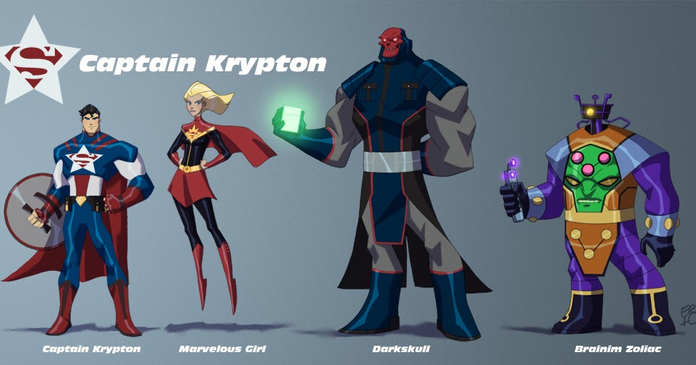 The Art Of Eric Guzman Chaptain Krypton Line Up