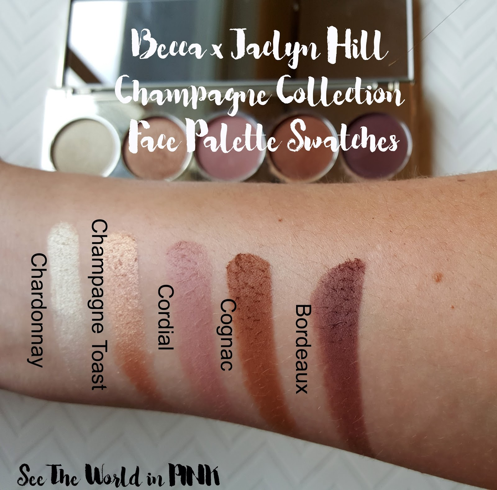 becca x jaclyn hill champagne glow collection eyeshadow palette review swatches