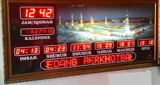 Jam Digital Masjid NTT