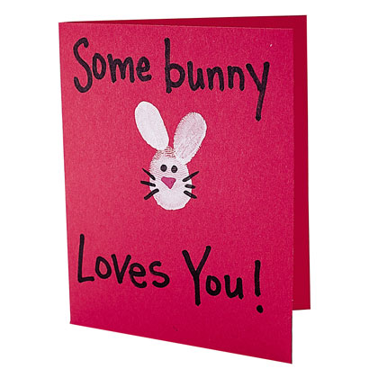Craft: Thumb Bunny Card