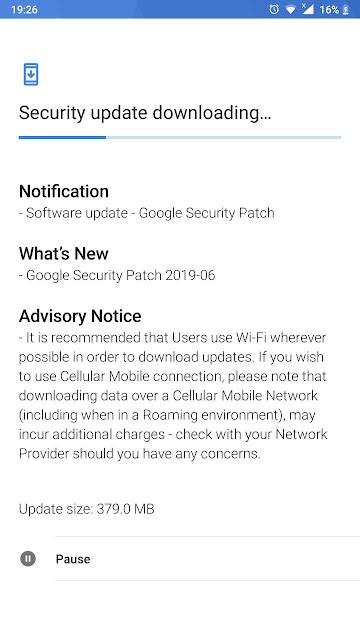 Nokia 6 receiving June 2019 Android Security update