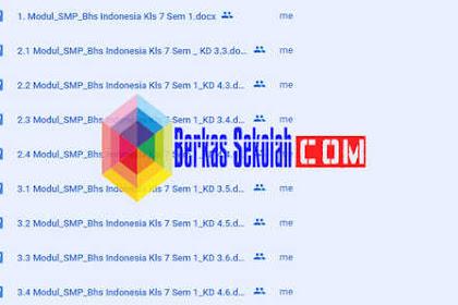 Modul Bahasa Indonesia Kelas 7 SMP/ MTs Semester 1 untuk Daring dan Luring