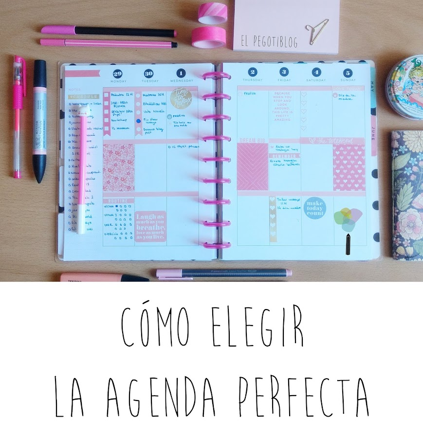 Cómo elegir la agenda perfecta