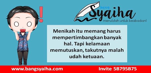 Mapan dulu baru menikah, belum mapan, Bang Syaiha, http://www.bangsyaiha.com/