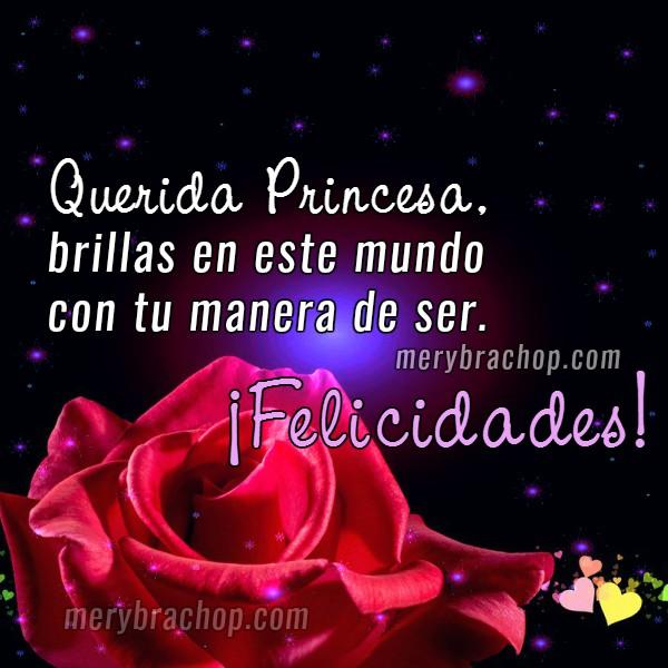 imagen con rosa roja frases cumpleaños para hija princesa