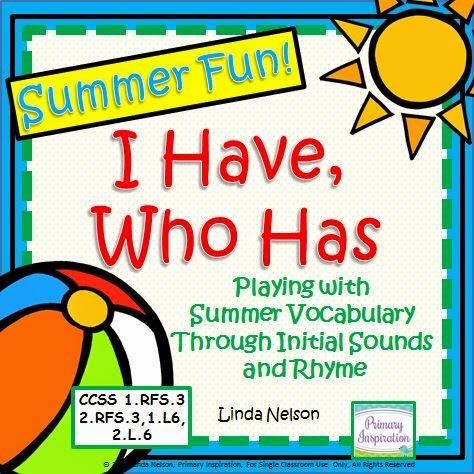 http://www.teacherspayteachers.com/Product/I-Have-Who-Has-Summer-Fun-710449