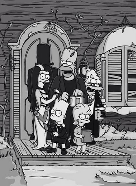 Simpsons Munsters Addam family