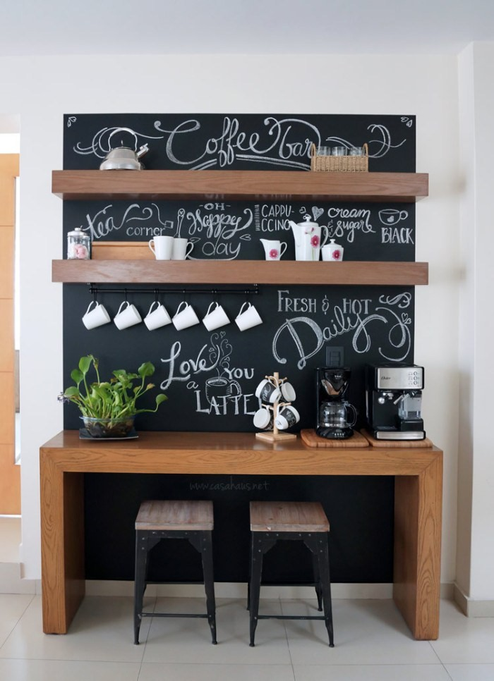 7 Decorating Ideas In Making Your Own Cozy Coffee Bar At Home