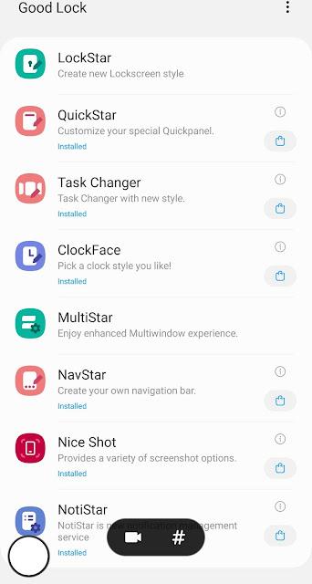 Download Aplikasi Good Lock Baru - NotiStar, Nice Shot, dan EdgeLighting + untuk Animasi kamera Galaxy S10 2