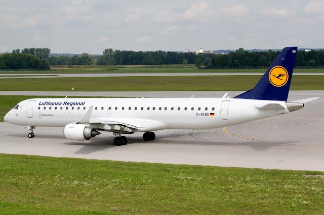 Lufthansa Regional Embraer E-195