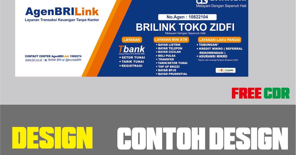 Download Contoh Desain Banner Agen BRILink Format CDR, SVG ...