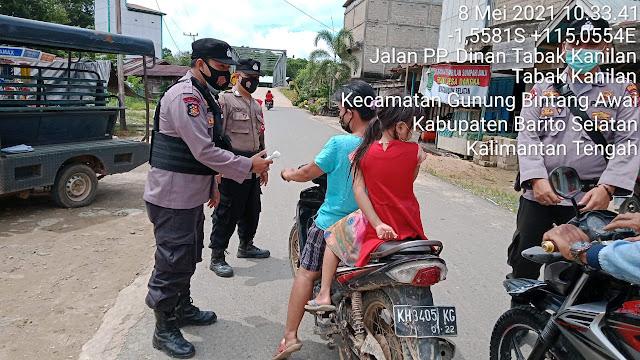 Tingkatkan Kesadaran Prokes Masyarakat, Satgas Yustisi Kecamatan GB Awai Gelar Pendisiplinan