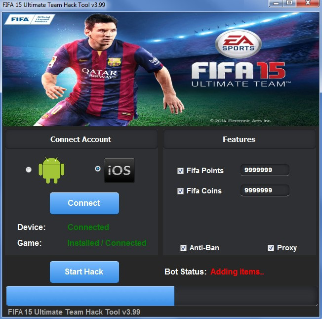 Fifa 15 Hack Add Coins and Fifa Points for Android (2015)