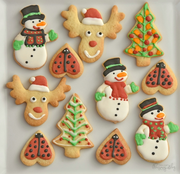 Ciasteczka maślane - łosie i inne.