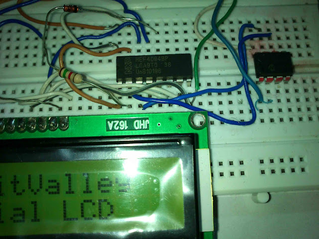 16x2 Serial LCD  (Two Wire) with PIC12F675 14