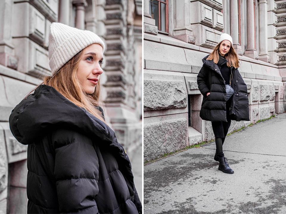 Fashion blogger streetstyle, winter 2020, lace up combat boots - Muotibloggaaja, talvimuoti 2020, nauhalliset nahkanilkkurit