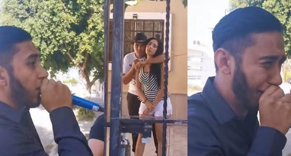 Le lleva serenata a su amada y DESCUBRE que ella ya tiene novio; llora desconsolado (video)