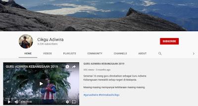 Channel Youtube Cikgu Alif Dahalan