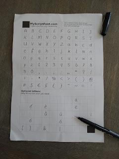 eigen handschrift font lettertype